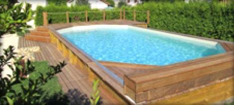 Piscine bois piscine bois enterr e et semi enterr e for Petite piscine en bois semi enterree