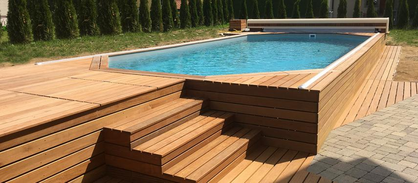 Arizona pool fabricant piscine bois enterr e et semi for Fabricant piscine bois