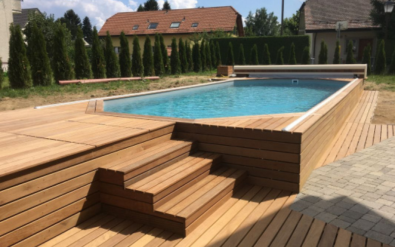 piscine bois wood