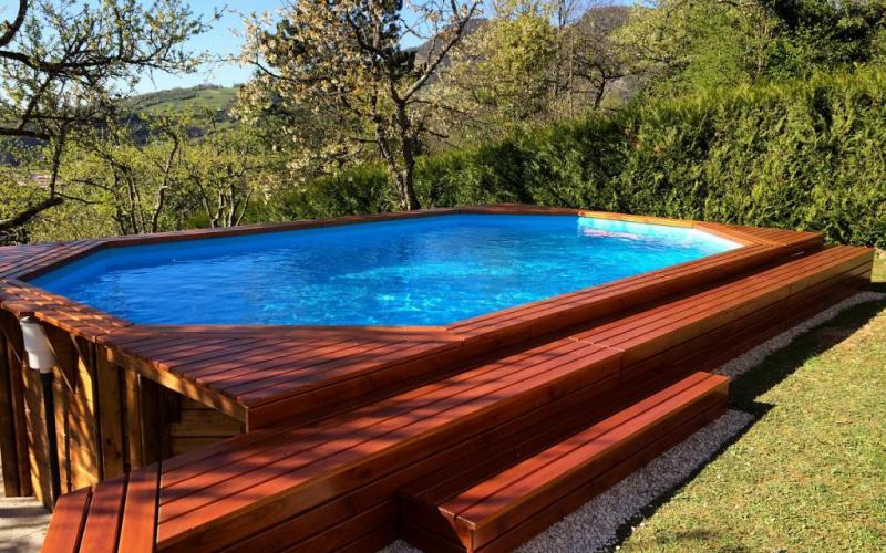 Une piscine bois pour votre printemps arizona pool for Fabricant piscine bois semi enterree
