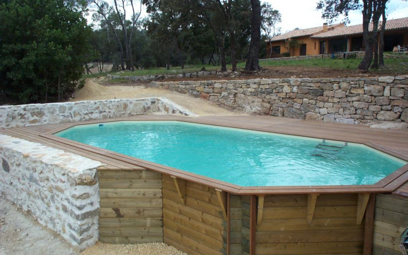 Piscine en bois enterree meilleures images d 39 inspiration for Piscine 95