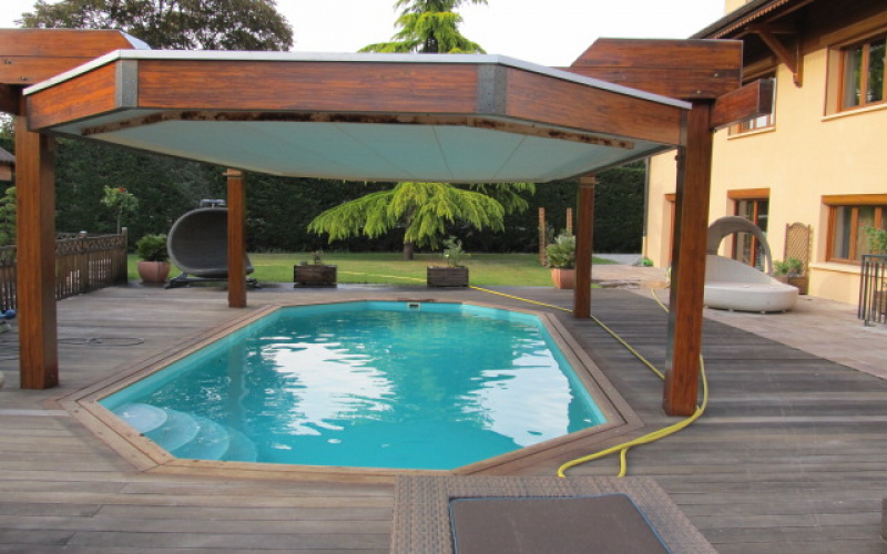Promo piscine bois semi enterr e for Piscine semi enterree bois hexagonale