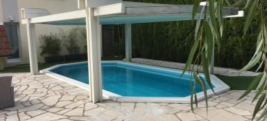 Couverture Sécurité isolante pour piscine bois